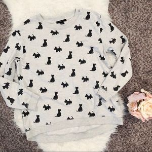 Large dog print sweatshirt